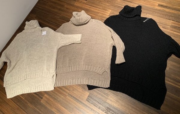 Grobstrick Pullover im oversized Look