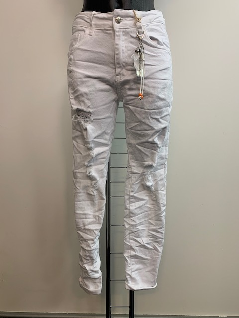 Jeans distressed in weiß